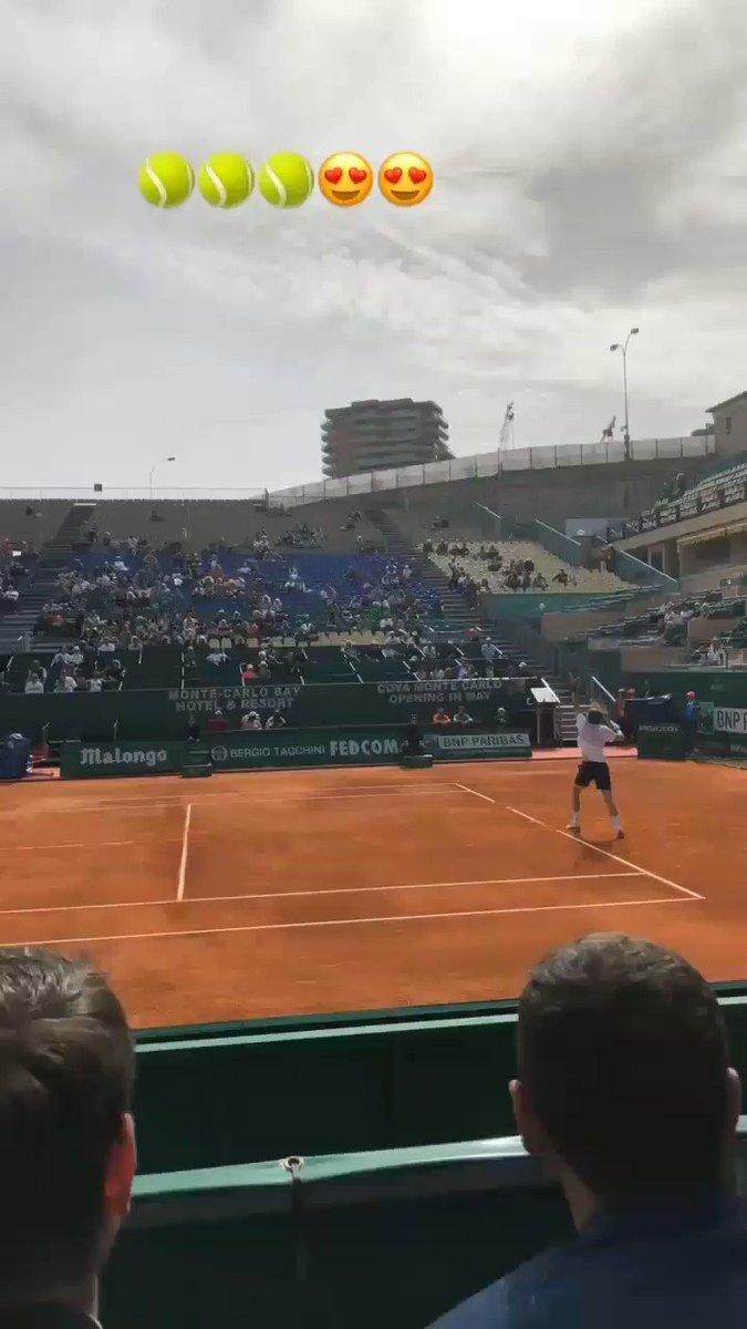 Enjoying some @ATPWorldTour. #tennis #atptennis #MonteCarlo #MonteCarloRolexMasters