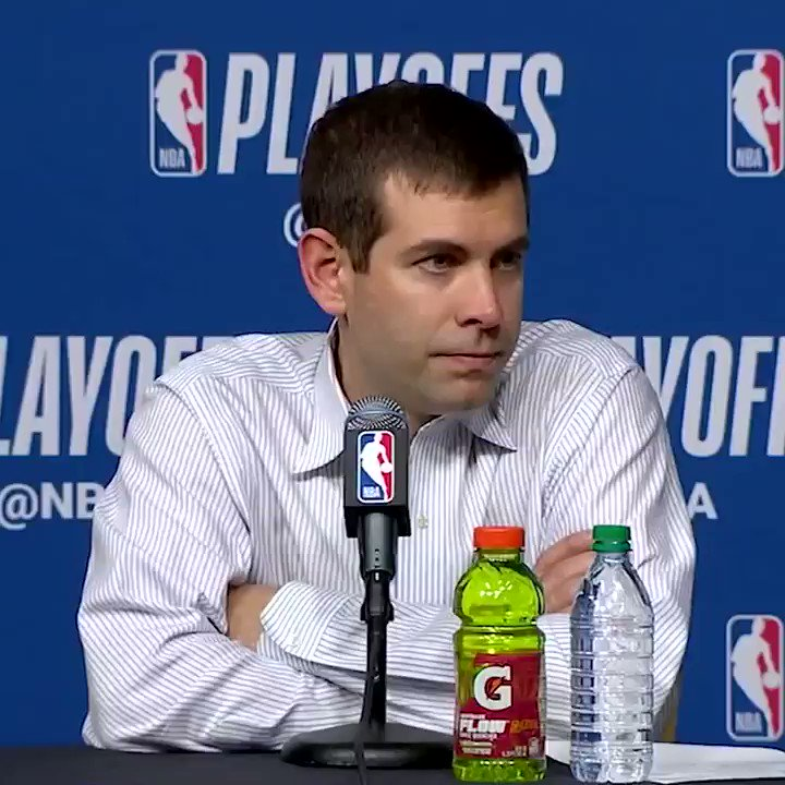 Brad Stevens doing his best Popovich impression �� https://t.co/UwAGgaDOPh
