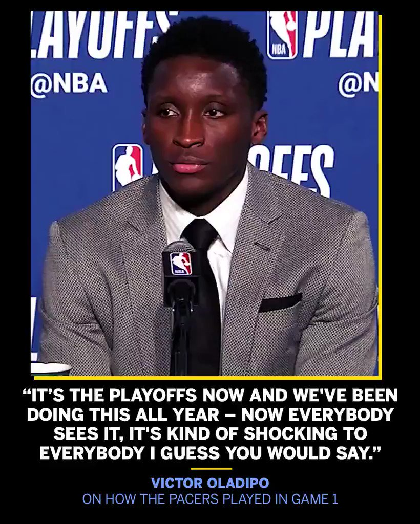 You might be surprised by Game 1 in Cleveland, but Oladipo isn't. https://t.co/hFeok7pUot