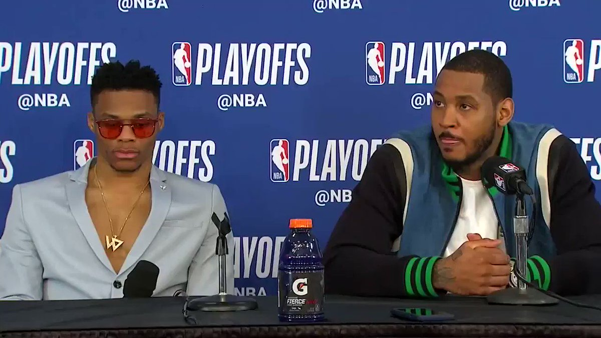 Looks like Russ and Melo didn't know about PG's new nickname �� https://t.co/nRf4o9zYHv