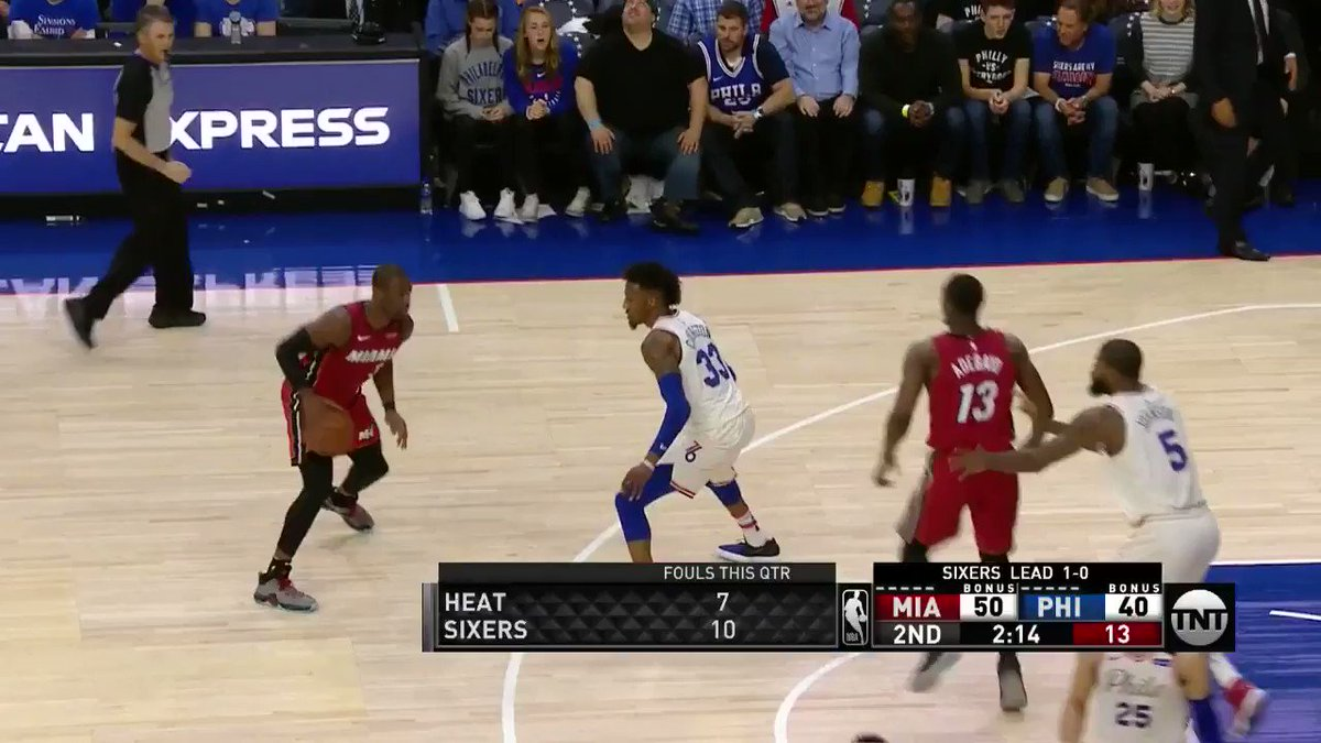 The bucket that put D-Wade 10th all time in #NBAPlayoff points!  #WhiteHot https://t.co/36BHU3FKY2