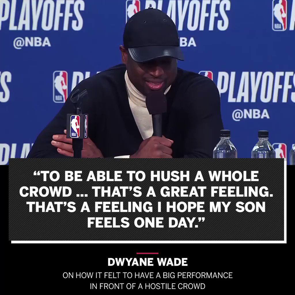 Wade wants big performances to become a family tradition. https://t.co/3PVV3RX2fq