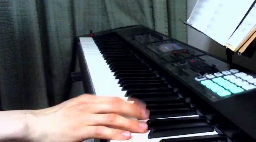 新たに演奏用ピコピコ音色を作ったので、カービィの雲面BGMで試し弾き🐵