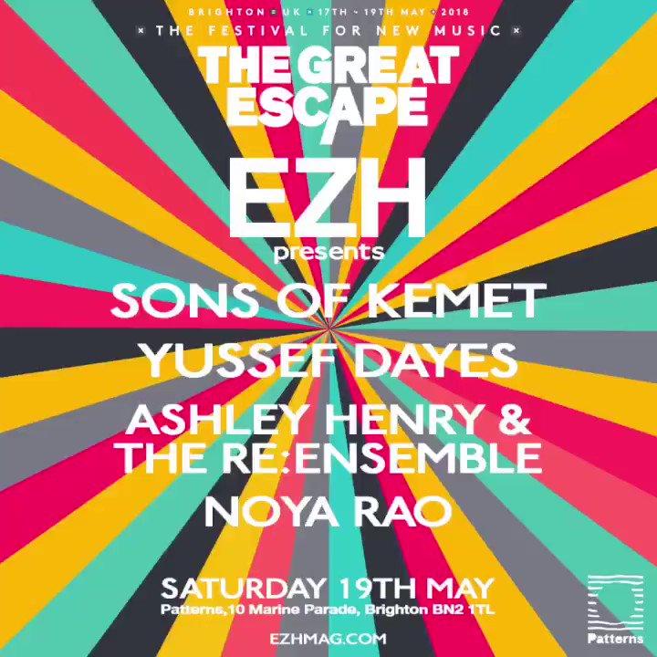 \\ See you In Brighton @SonsOfKemet @yussefkamaal @Ash_henrymusic @NoyaRao @thegreatescape