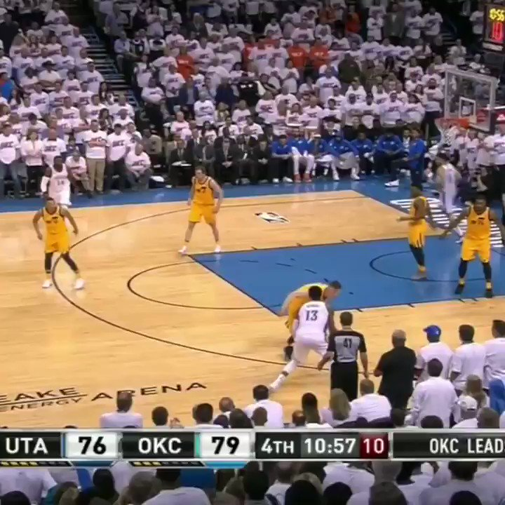 The Thunder's Big 3 went 0-14 (!!!) in the 4th quarter in Game 2. �� https://t.co/PWgZAMrnfE