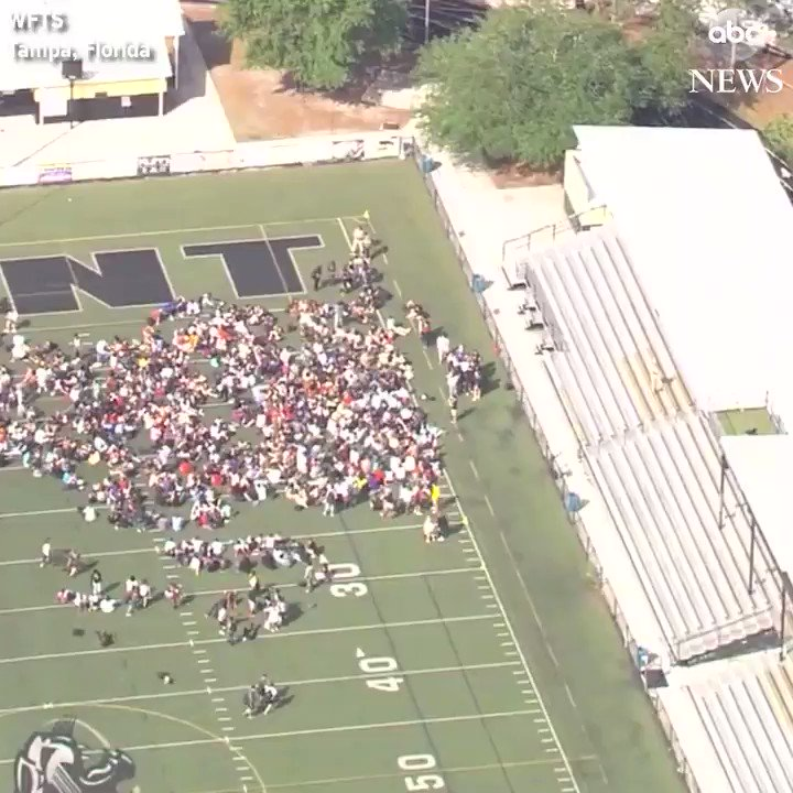 RT @ABCPolitics Students in Tampa, Florida walk out of class as part of more than 2,000 events nationwide aiming to pressure lawmakers over gun reform. https://t.co/kJuZKaLaeh #NationalSchoolWalkout
