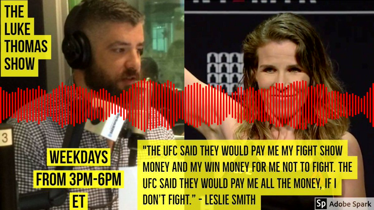 .@LeslieSmith_GF shares the details on how the UFC paid her win and show money NOT to fight #TLTS  @lthomasnews