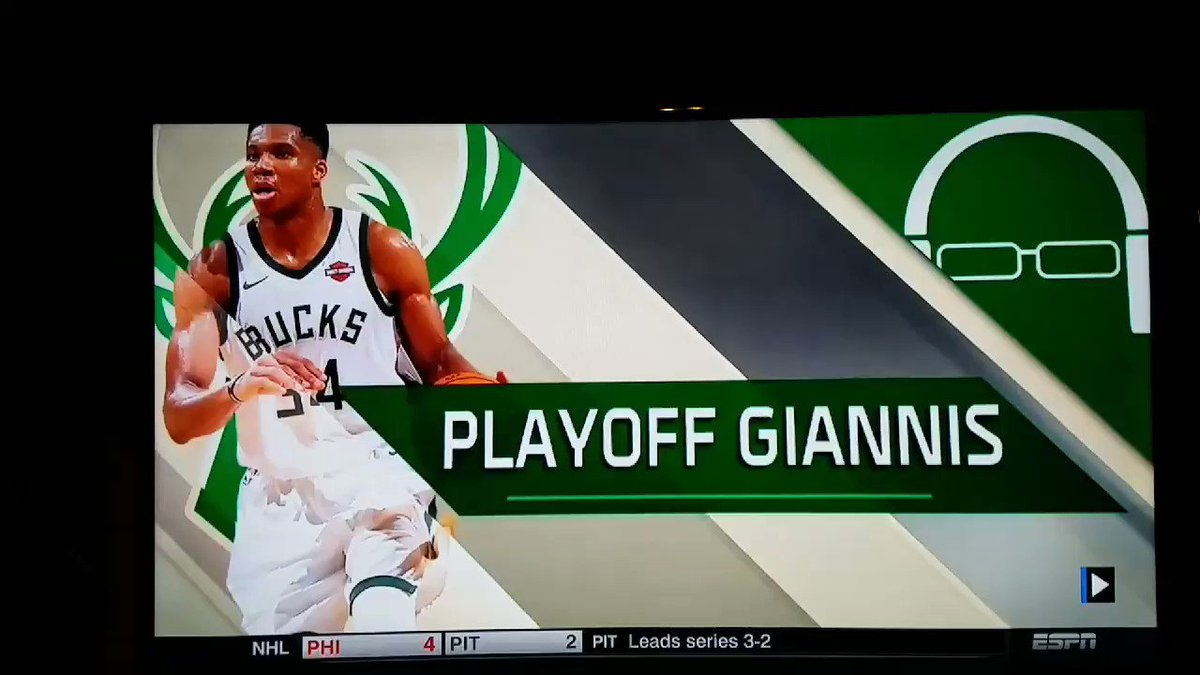 Greek Freak putting Aaron Baynes on a POSTER! Holy Cow, that just ain't right. #GreekFreak #FeartheDeer #NBAPlayoffs