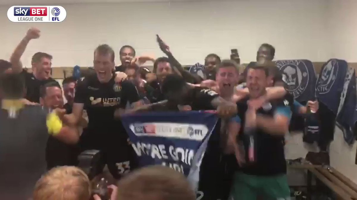 What a day for @LaticsOfficial!   There were jubilant scenes following confirmation of their promotion! 🎉