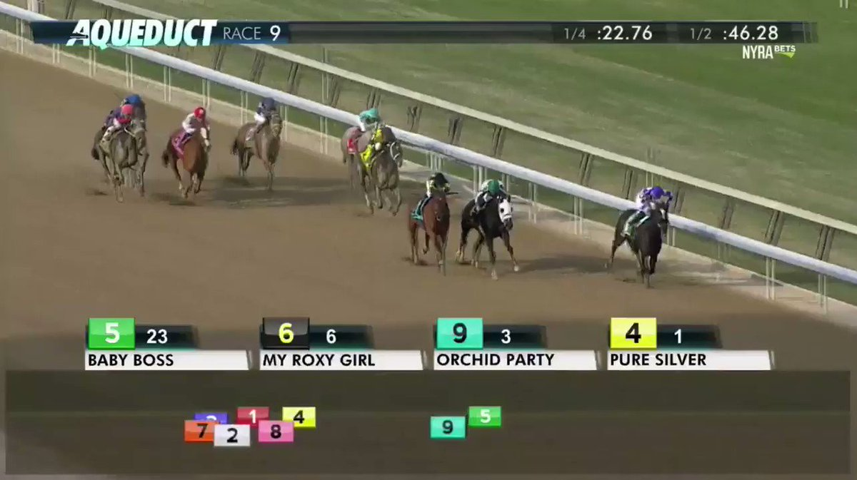 Baby Boss with @jockeyfranco go wire to wire to win the N.Y.S.S Park Avenue Stakes at 23-1!