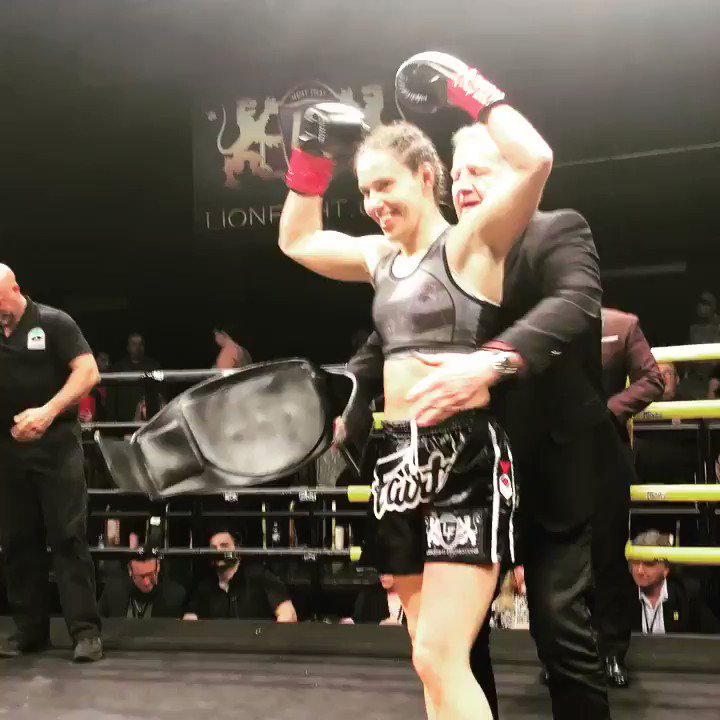 Very happy to win tonight!  #AndStill My 3rd #LionFight title defense  #muaythai #LionFight42