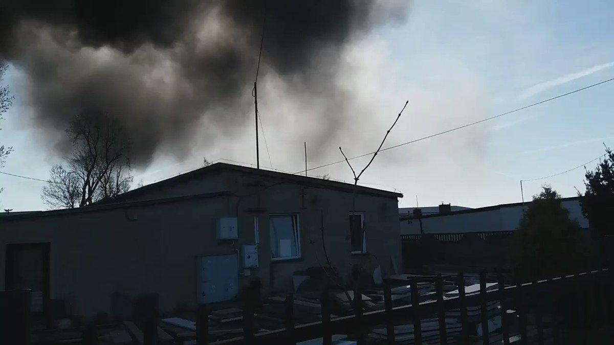 #pożar w #krośniewice dziś rano zapalił...
