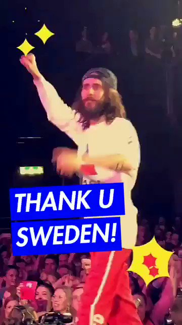 THANK YOU, SWEDEN. ����  Missed #MonolithTour highlights? Follow along on Snapchat + IG. ���� https://t.co/ZJ2uydZpz0