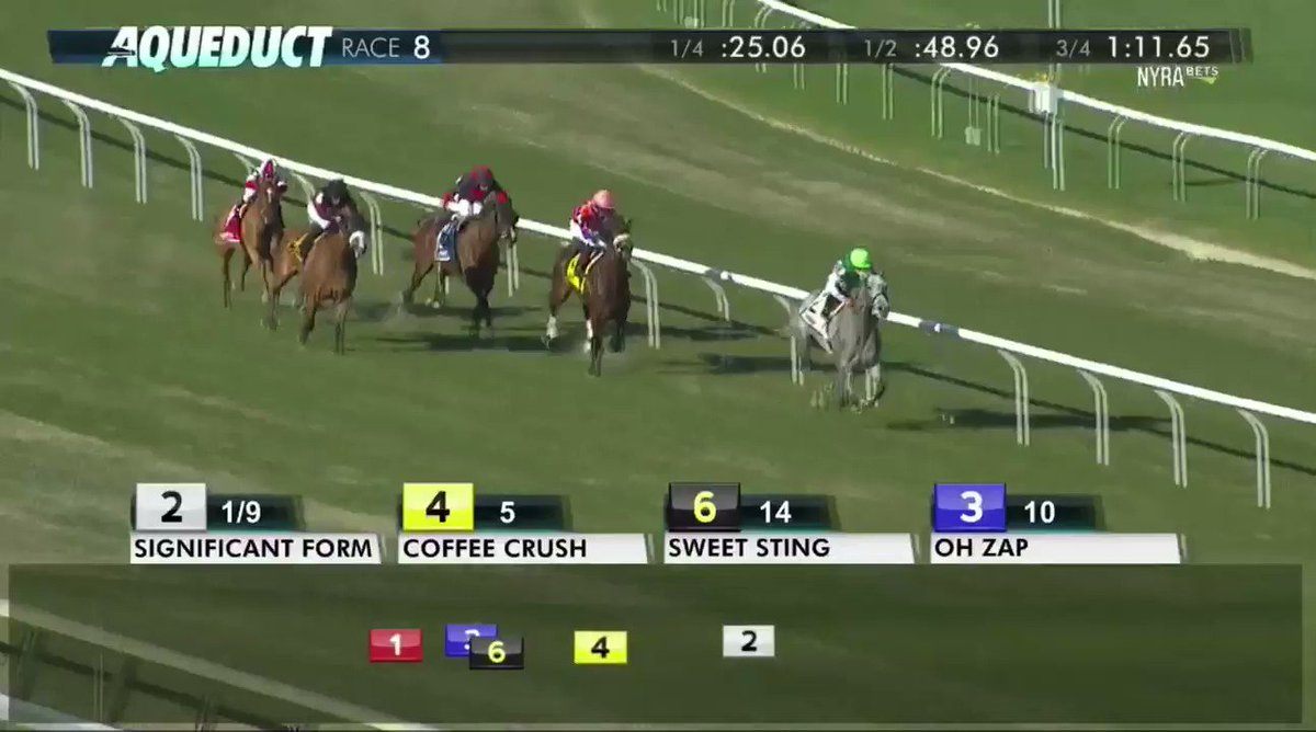 Significant Form with @IradOrtizJr run away with the Memories of Silver Stakes!