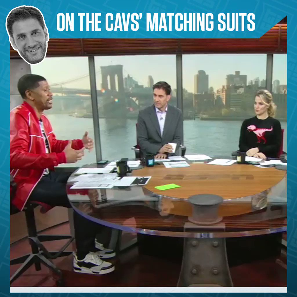 What did you think about the Cavs' matching suits? @Espngreeny was feelin' it.