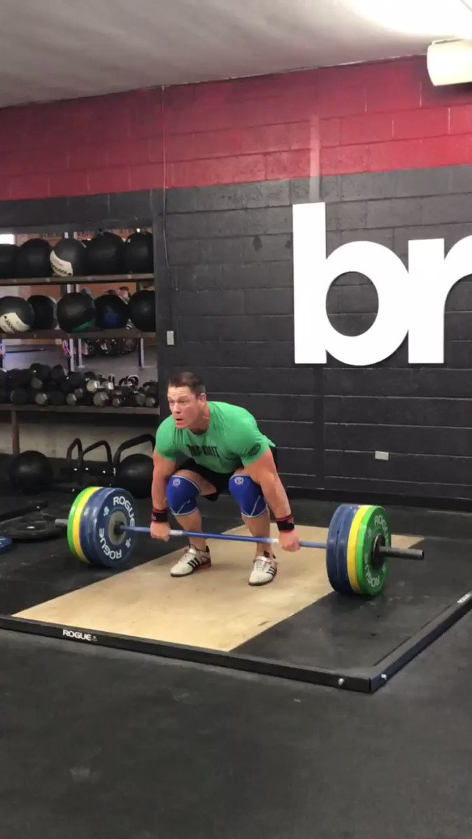 John Cena Celebrated His 41st Birthday With Cleans and Deadlifts