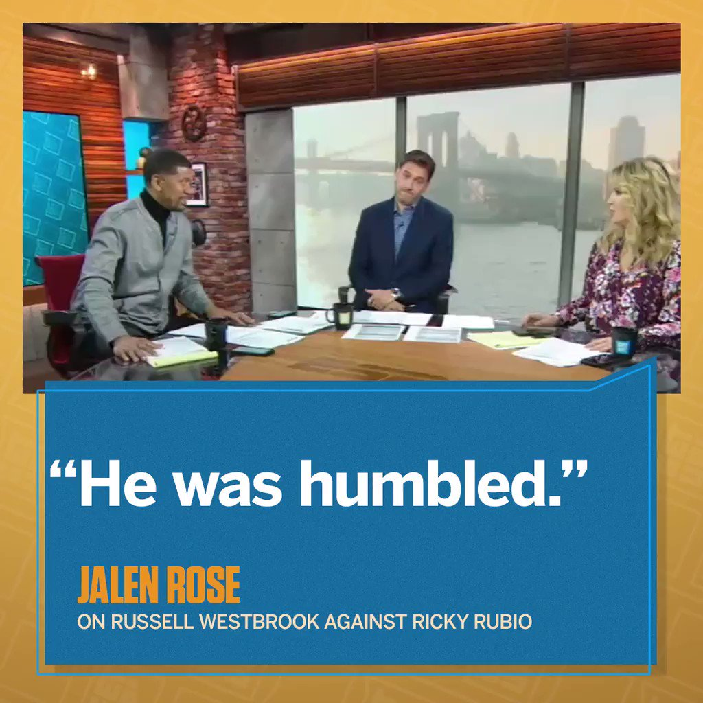 According to @JalenRose, Russell Westbrook's vow to shut down Ricky Rubio backfired.