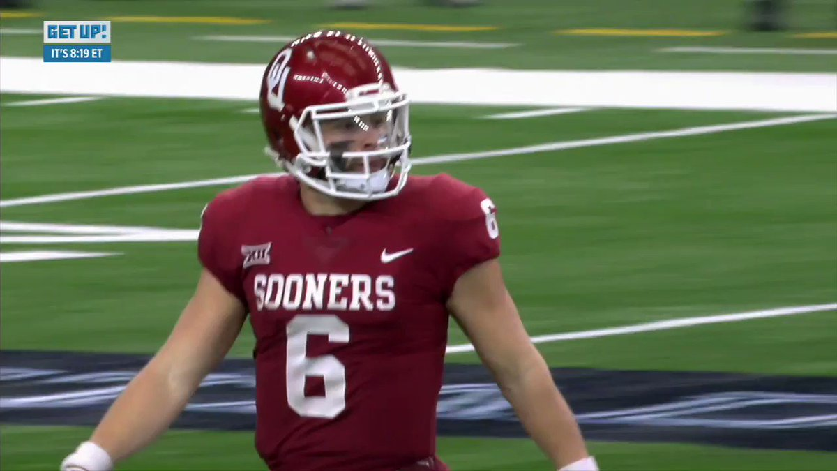 .@AdamSchefter says Baker Mayfield is 'definitely' in the running to be the No. 1 pick.