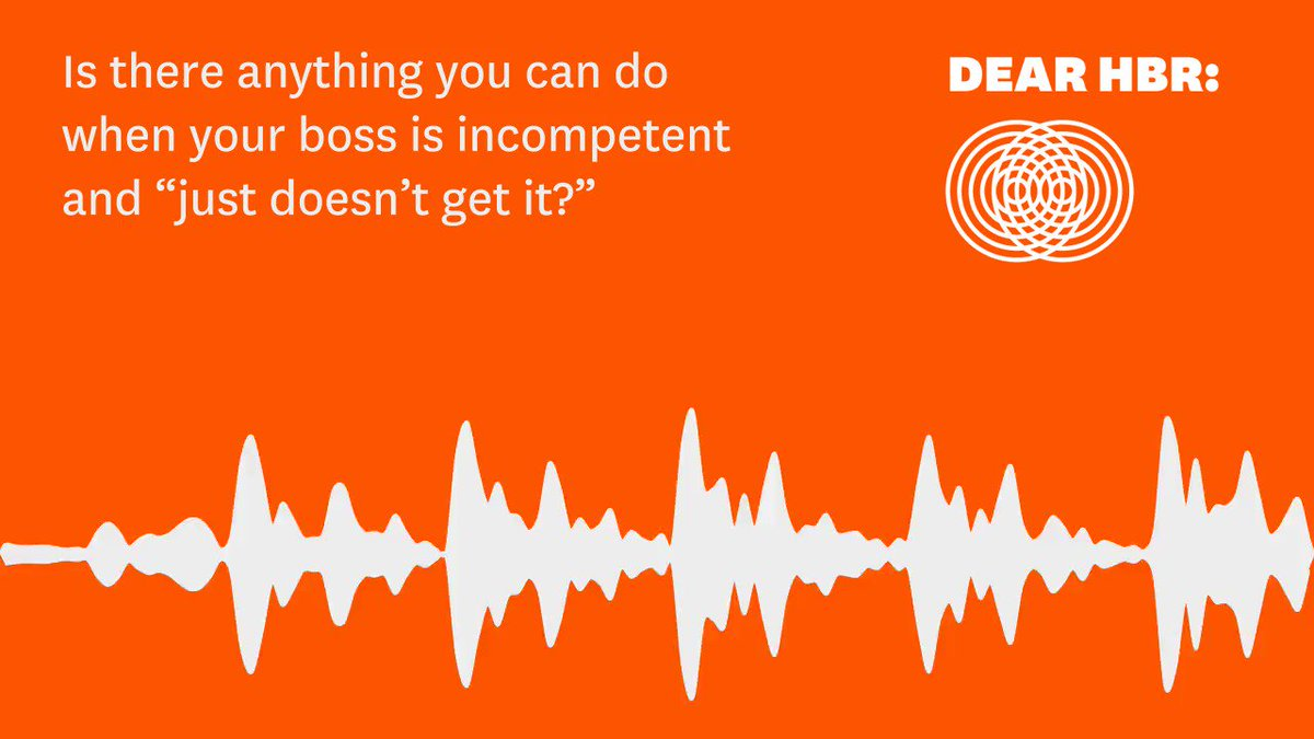 How to deal with a bad boss, on episode 7 of our advice podcast #DearHBR:  https://t.co/q7AsBZ6tPe @BUQuestrom https://t.co/XuWBw0Rli9