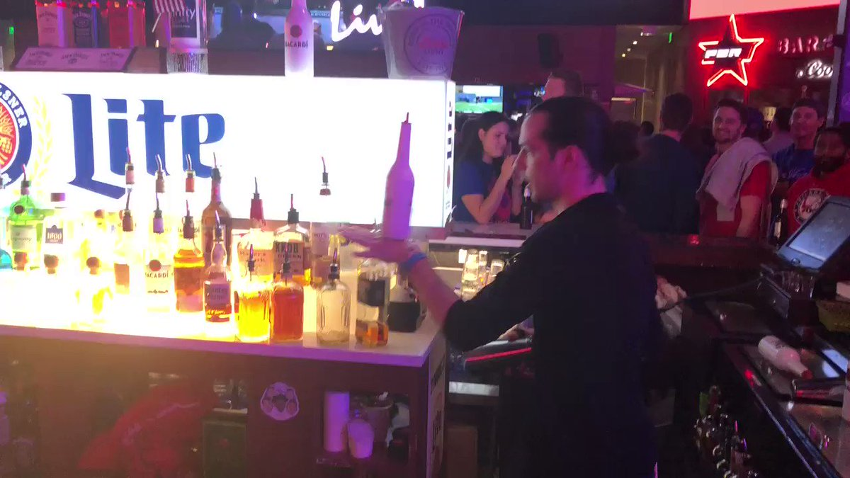 Our bartenders getting you pumped for the 4th quarter! Let's do this! #PhilaUnite