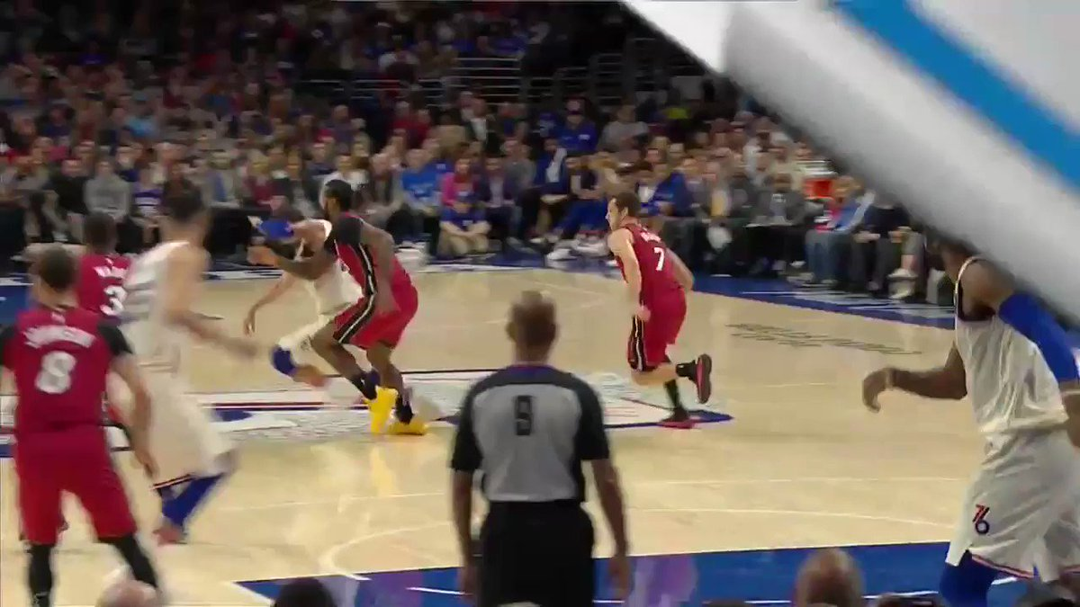 And here's James Johnson clotheslining Marco Belinelli. Dirty Heat back at it.