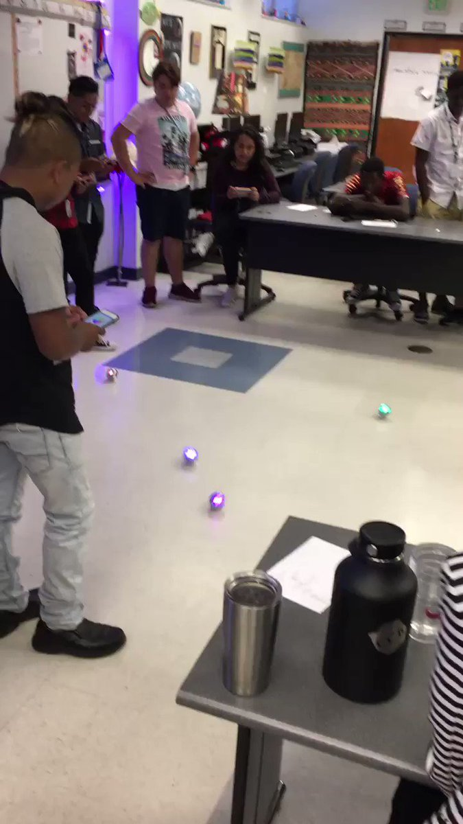 ESOL students and @SpheroEdu - practicing their coding moves for next week's Maze Challenge @nessz79 @LWTechCollege