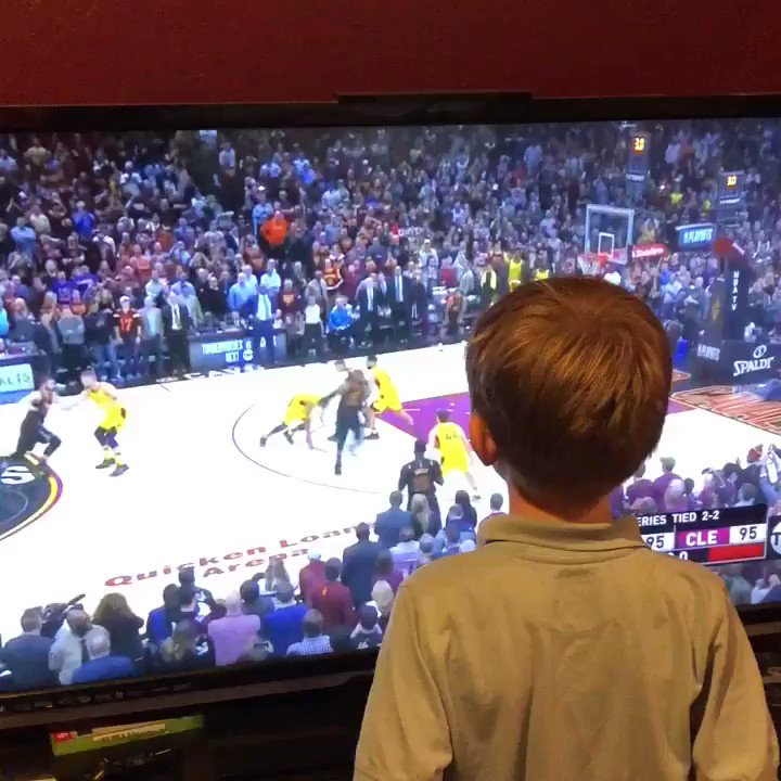 What was more ice cold: LeBron's shot or this kid calling it?