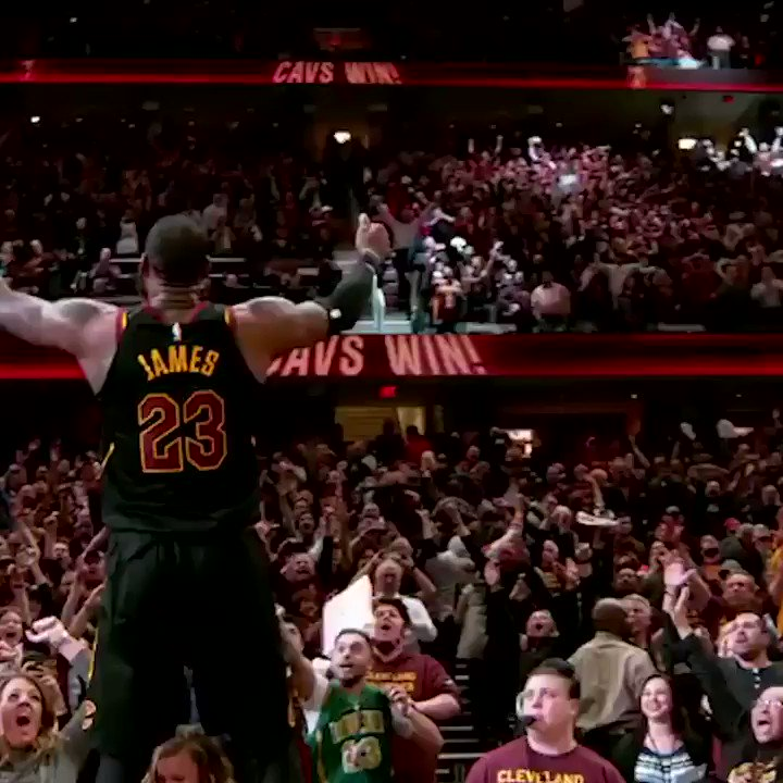 LeBron is for the fans. (via @NBA) https://t.co/v6mui6f6Hk