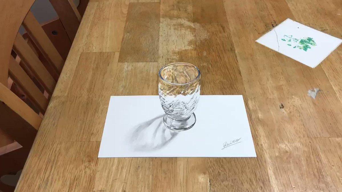 紙にコーラ置いただけやん色鉛筆で書かれたコーラのイラストがマジで