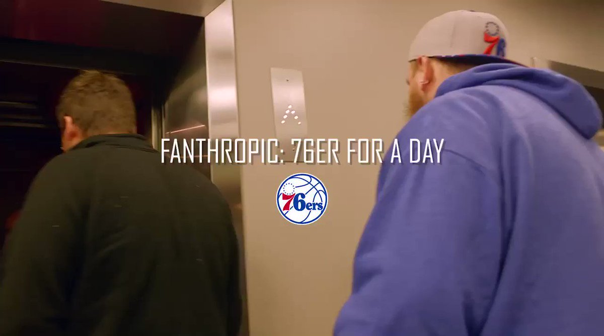 """✅ Meet World B. Free ✅ Present Game Ball to @MarkelleF ✅ Meet @alleniverson  ✅ Sit Courtside ✅ Toss T-Shirts  The winners of the Fanthropic """"@sixers For a Day"""" Sweepstakes had quite the night!"""