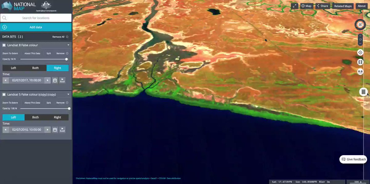 Image for the Tweet beginning: @TropWATER scientists documented the #mangrove