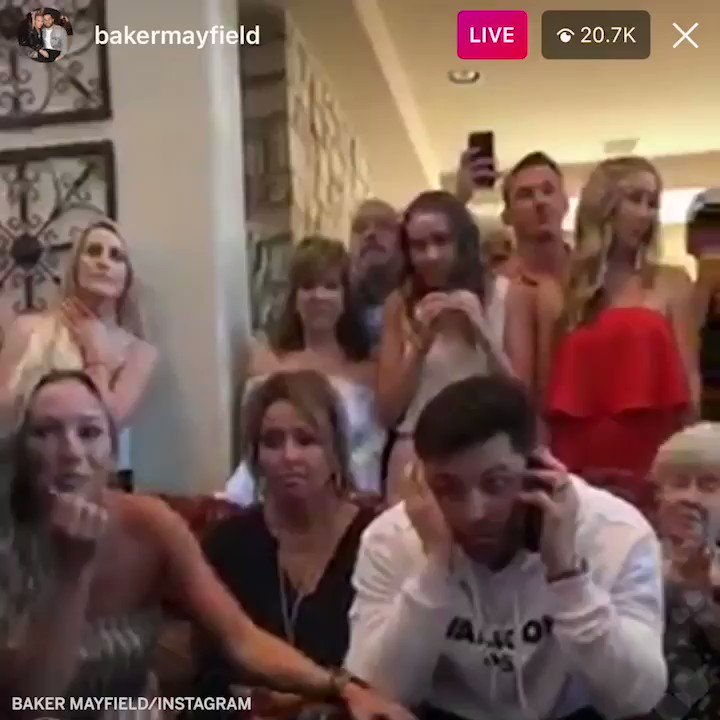 The moment @bakermayfield knew he was going No. 1 https://t.co/hiZOgoPfsU
