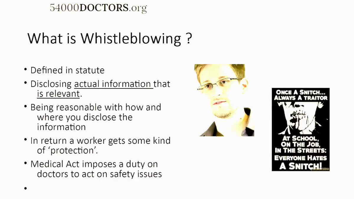 the definition of whistleblowing Whistle-blowing , whistleblowing whistle-blowing is the act of telling the authorities or the public that the organization you are working for is doing something immoral or illegal n-uncount oft n n it took internal whistle-blowing and investigative journalism to uncover the rot.