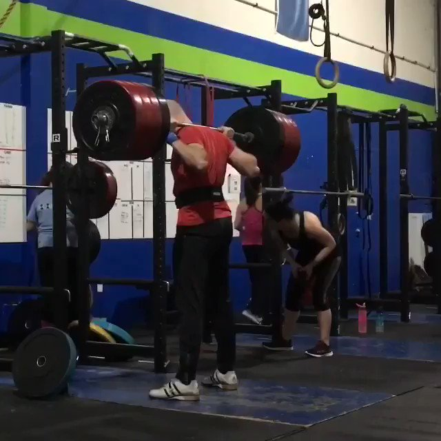 Back squat. 410x1.