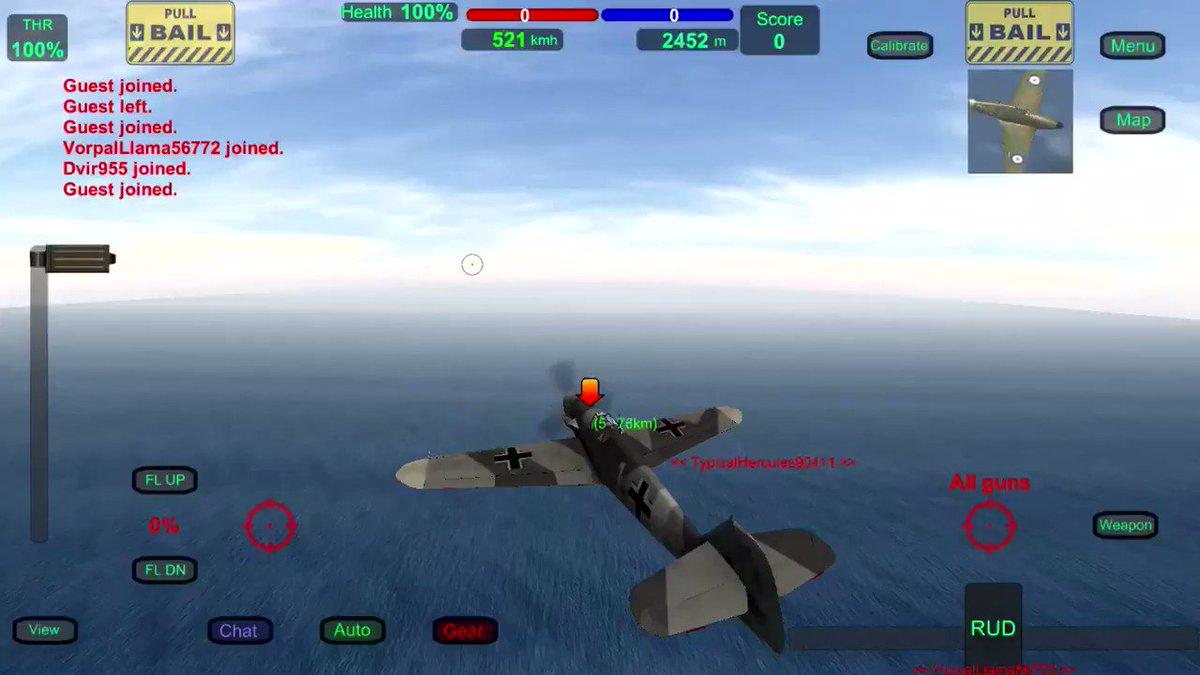 Image for the Tweet beginning: これが、Bf-109 Fの本当の戦い方よ! なお、このスキンは先月のアップデートで追加された東部戦線の冬季迷彩