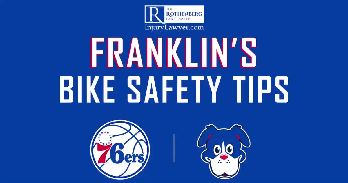 With May being National Bike Safety Month, the @sixers and @RothenbergLaw teamed up to share tips to staying safe while riding your bike!  Check out @SixersFranklin with the do's and don'ts!