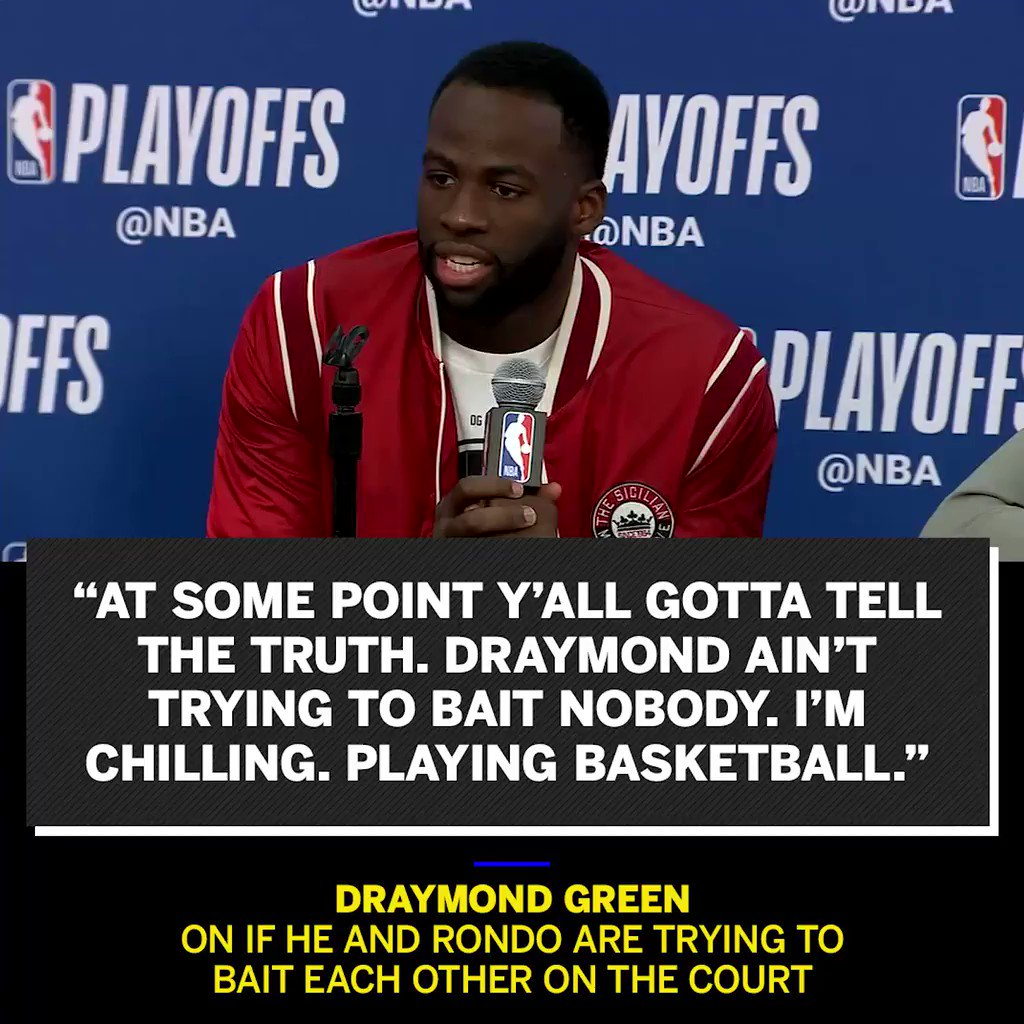 Seeing Draymond and Rondo on TV together reminded me of one of my favorite rants I ever got to see in person