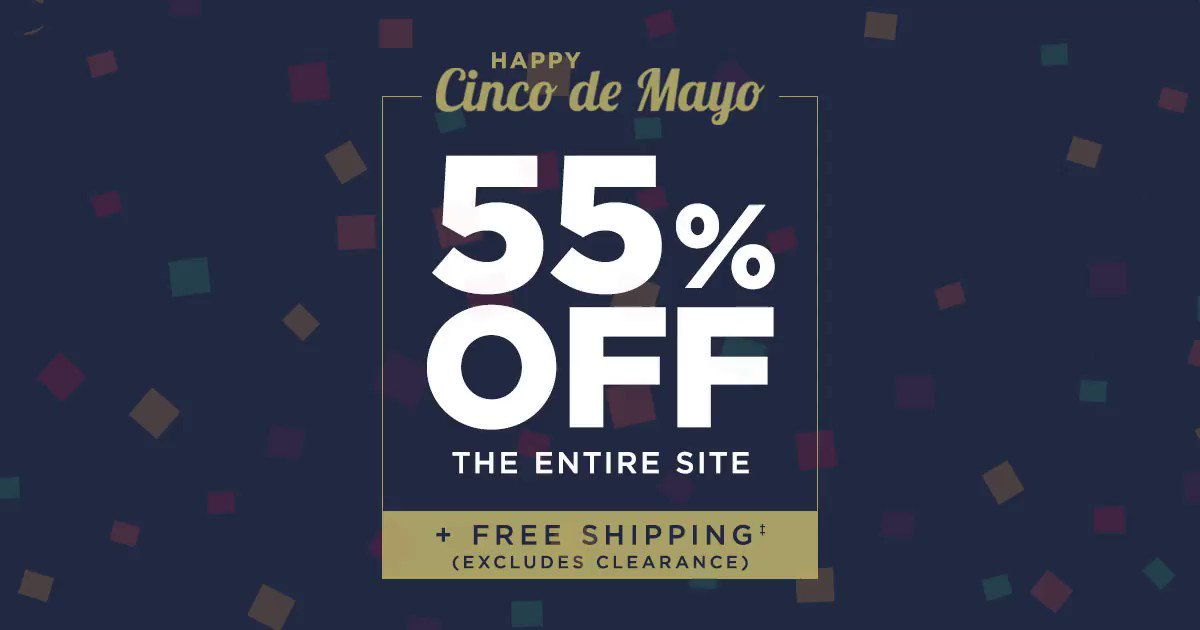 Our Cinco de Mayo sale is happening NOW. Get 55% off everything at haggar.com!
