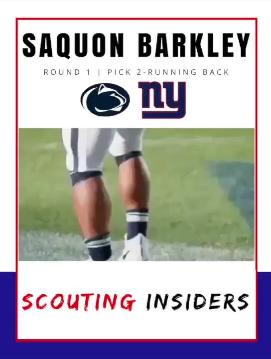 Image for the Tweet beginning: PLAYER HIGHLIGHTS: Saquon Barkley, Running