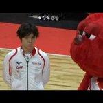 Bリーグマスコットキャラと戯れる宇野昌磨選手、かわいすぎw