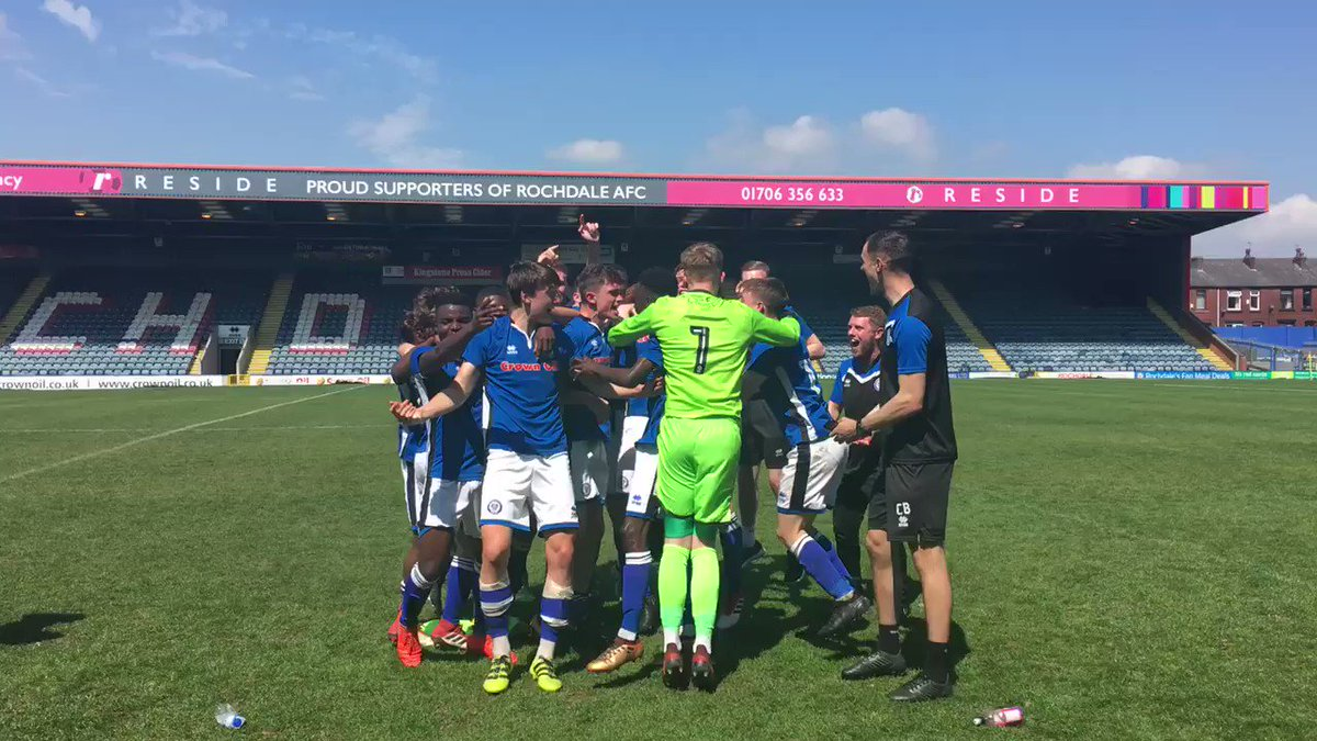 The Youth Team have drawn 1-1 with Tranmere Rovers at the #CrownOilArena, claiming the point needed to win the league. Get in, lads! 👏 #RAFC