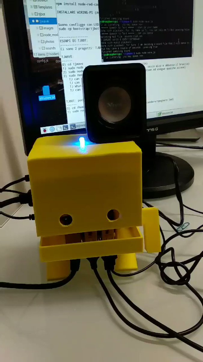 Raquel Zurita On Twitter This Is My Friend Piettro From Node Wiringpi Campustore It Teaching Me About Ibmwatson And Raspberrypi Say Hello To Tjbot