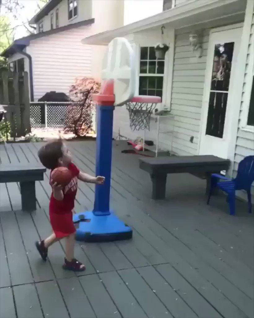This 3-year-old's trick shot game is out of control. #SCtop10 (via @mikeandheather8) https://t.co/3yzM79CBWC