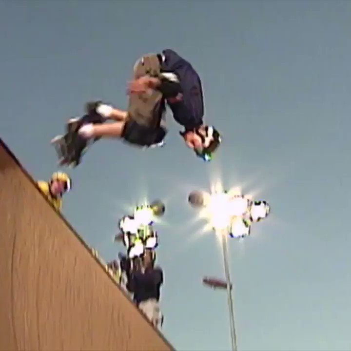 In honor of @tonyhawk turning 50 today, we take you back this iconic moment in 1999 ... the first-ever 900. https://t.co/9Q6Gy2mYC2
