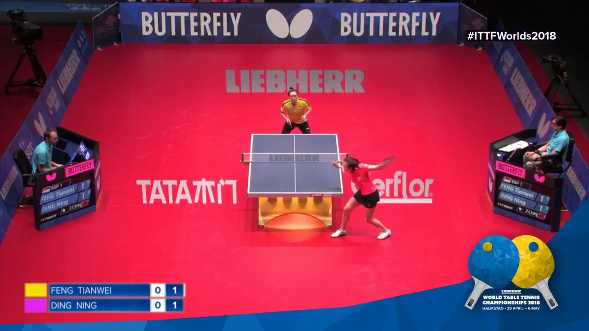 💥💥 #ITTFWorlds2018 #FengTianwei #DingNing #Incredible