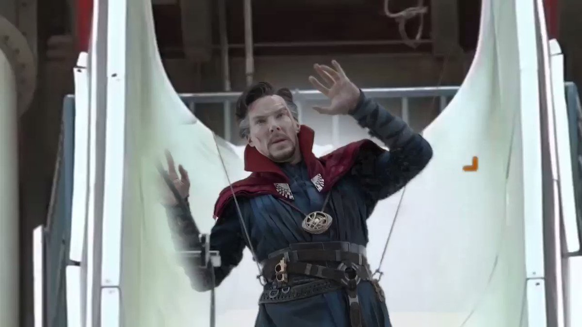 I took every shot from behind-the-scenes featurettes where Dr. Strange is in front of a greenscreen, and edited him into a waterpark.