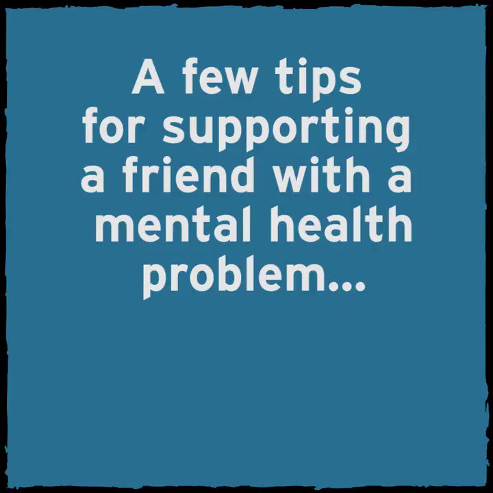 It's #MentalHealthAwarenessWeek. It might seem daunting, but there are loads of simple ways to be there or a friend who's experiencing a mental health problem. What are your tips?