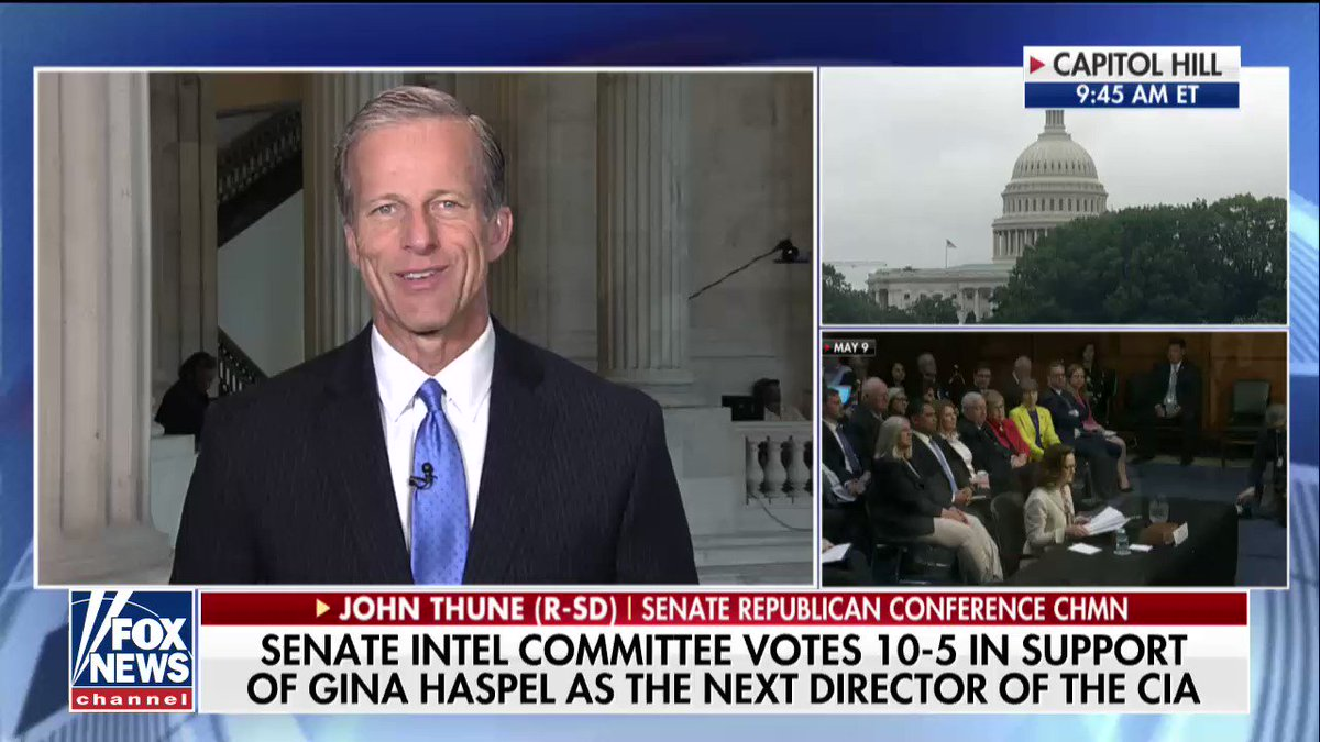 ".@SenJohnThune on Gina Haspel: ""This is somebody who has just tremendous experience and background."" https://t.co/U6haqPZExX"