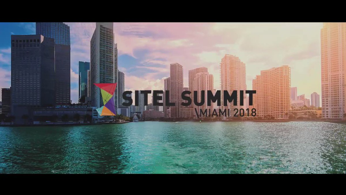 Day 1 of #SitelSummit in Miami: great speakers, innovative ideas, new trends, top class networking.  Continue the conversation with industry experts such as @emberMikeHavard and @morrispentel at the #ecd2018 in Paris on 7 June . Register now:   #CX #AI https://t.co/immk1Rrj9P