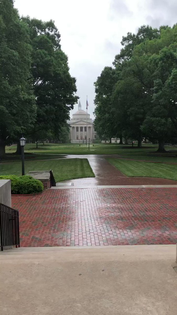 All is quiet on this rainy @UNC day! I hope everyone has a wonderful start to their summer break! https://t.co/j72PaqL399